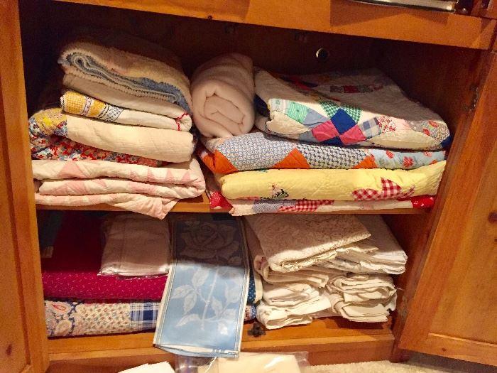 Linens, quilts