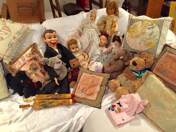Dolls, stuffed animals, and more
