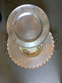 Vintage aluminum trays