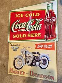 Signs - Coca Cola - Harley Davidson