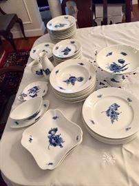 Royal Copenhagen blue flower braided dish set