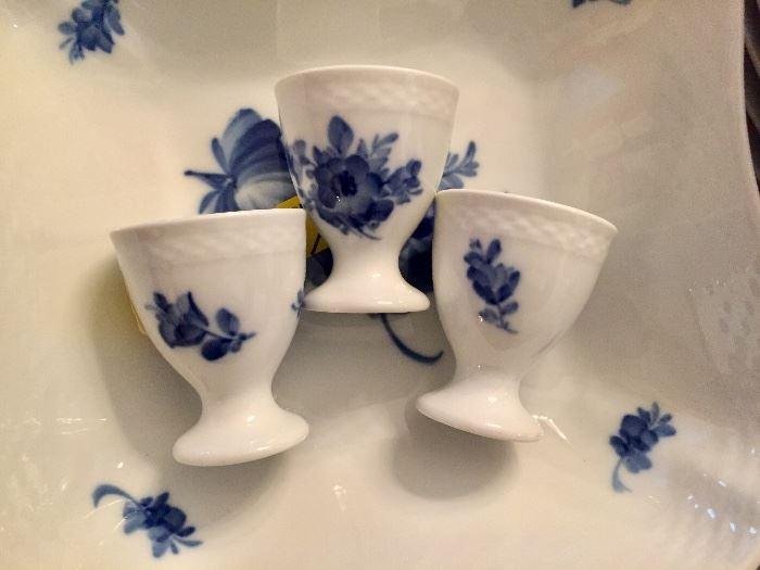 Royal Copenhagen Blue Flower Braided egg cups