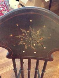 Inlaid detail rocking chair
