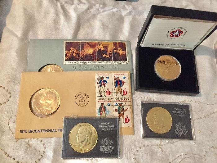 Coins and First Day Covers