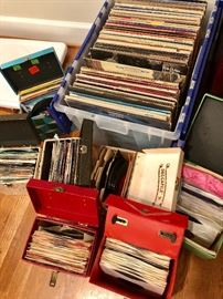 Large collection of 45's