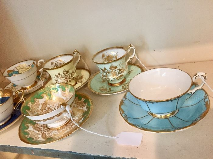 Coffee/Tea cup collection, Aynsley, Paragon and more