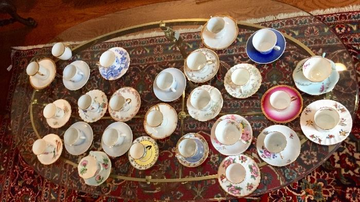Demitasse tea coffee cup collection