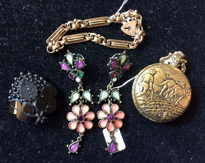 Costume jewelry, mourning pin