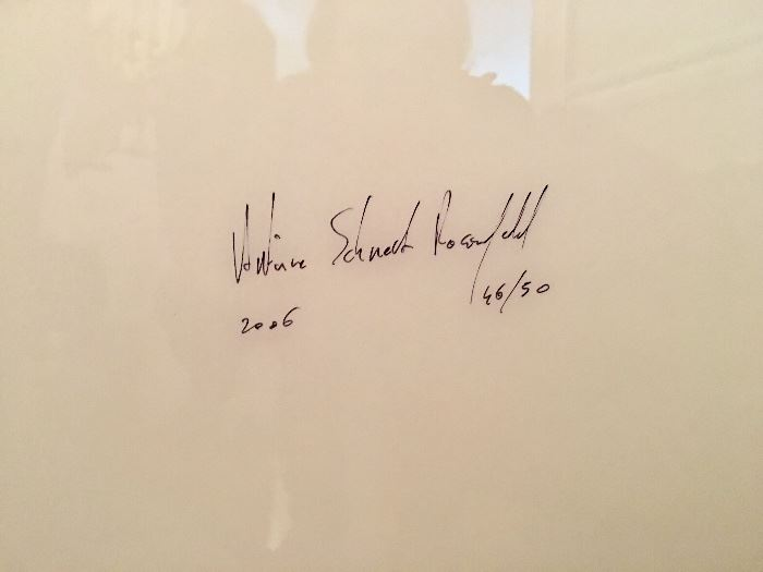 Placido Domingo photo by Antoine Schneck and signed by Antoine Schneck