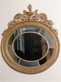19th Adam Style Mirror