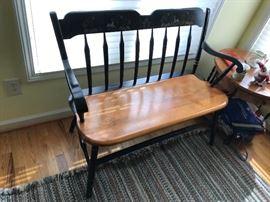 Wood bench $ 120.00