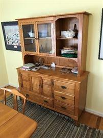 Cushman Colonial Creations solid wood china hutch $ 380.00