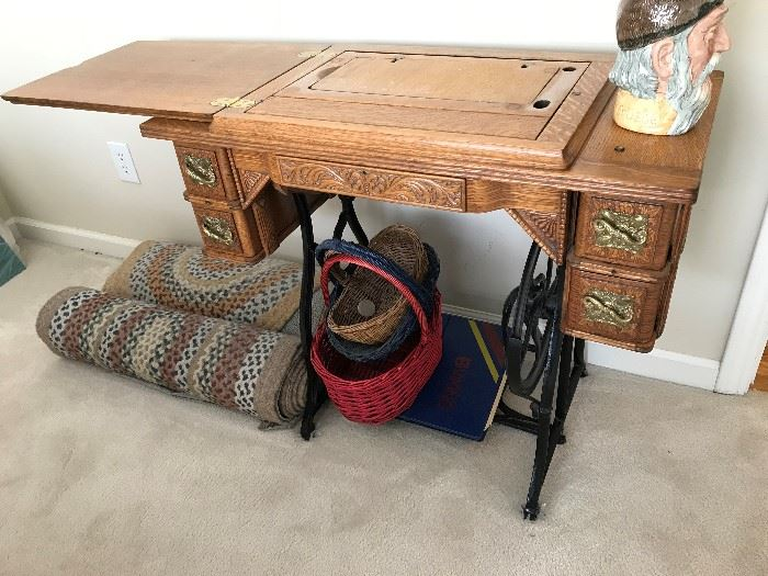 Antique Sewing Table - $ 90.00