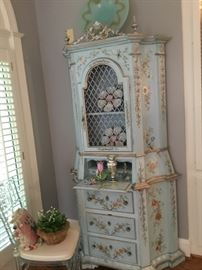 Antique French painted secretary/escritoire.