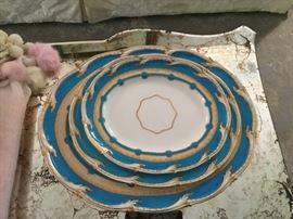 Classic Limoges blue porcelain.