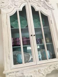 Antique hanging cabinet.