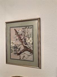 Vintage Basil Ede breasted nuthatcher print