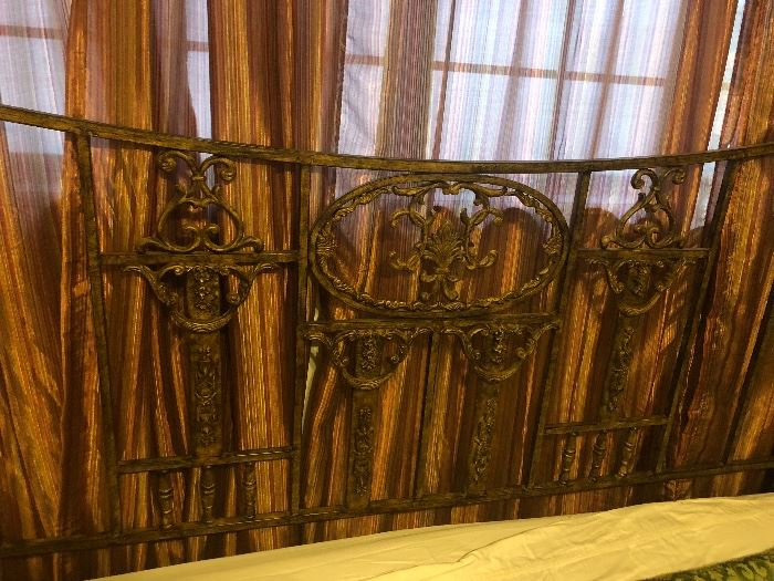 king bed iron headboard