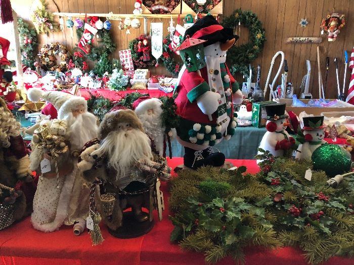 Designer Santa dolls