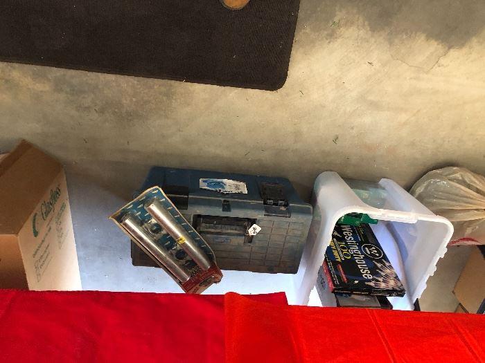 Volsvagen tailpipe kit, outdoor Christmas lights, tool box