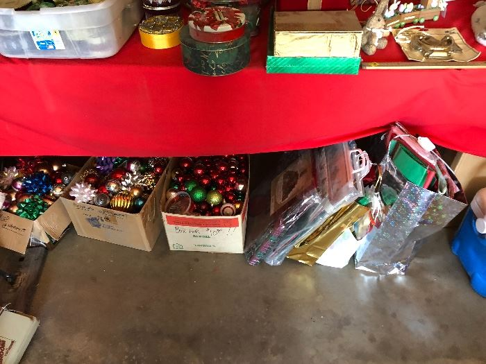 Bags, ornaments, canisters