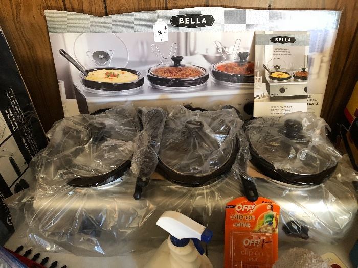 Bella 3 station crock cookers New in box