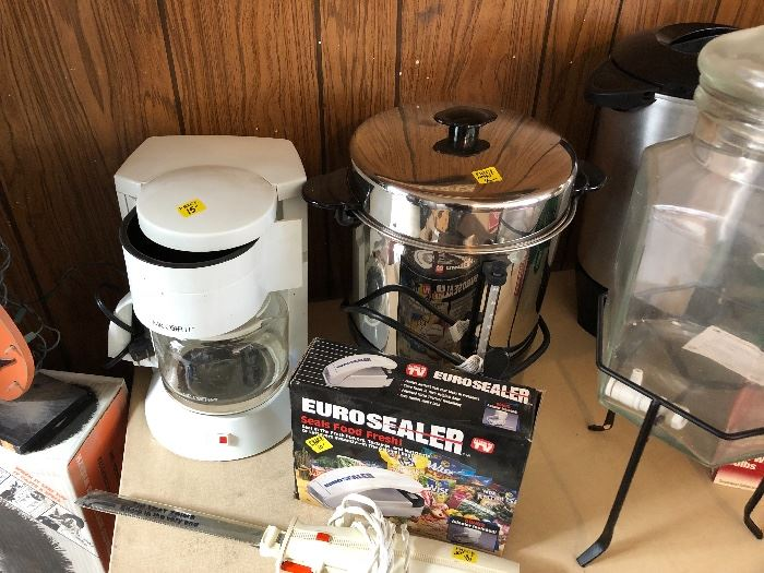 Euro sealer, coffee makers, electric knives