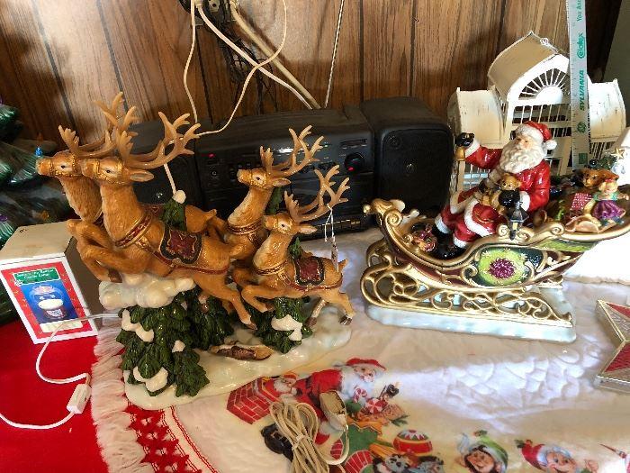 Santa and his reindeer items