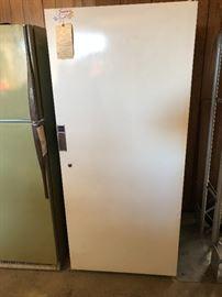 Upright freezer working