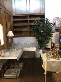 Glassware and collectibles