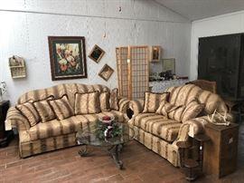 Noah's Furniture sofa and loveseat