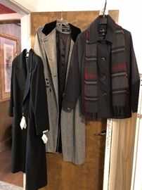 coats and scarves