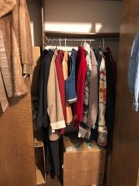 Coats and sweaters for winter's a- coming