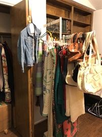 purse and quilts
