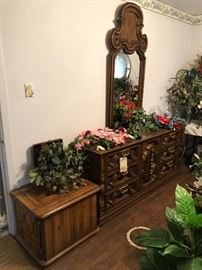 Triple dresser and night stands