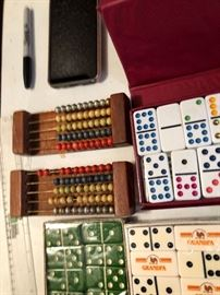Double six and double nine domino sets!!