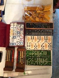 Vintage domino sets