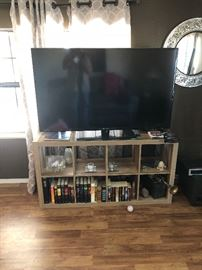 Big screen TV with stand