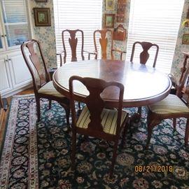 """52"""" Round Table and Six Chairs $ 1050"""