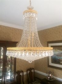 Sparkly crystal chandelier