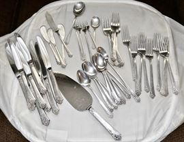 Sterling Silver Flatware Set - 44 Troy Oz