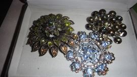 Vintage Costume Jewelry, :Pins, Brooches : Weiss, Eisenberg,  Lisner, and more