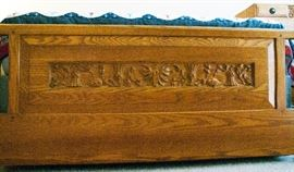 Carved bed set (over 50+ years old) - Carving Detail.