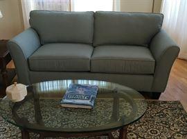 pale blue love seat (like new)