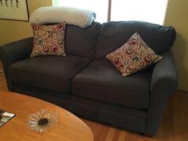 Gray/Navy sofa (like new)