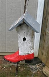 Boot Bird House