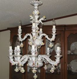 Capodimonte Twelve Arm Chandelier