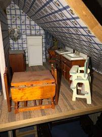 HAND-CRAFTED DOLLHOUSE WITH FURNISHINGS