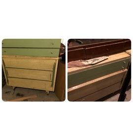United Furniture Corp. Bedroom furniture (more pieces, will post more pics) MCM Aqua and white .