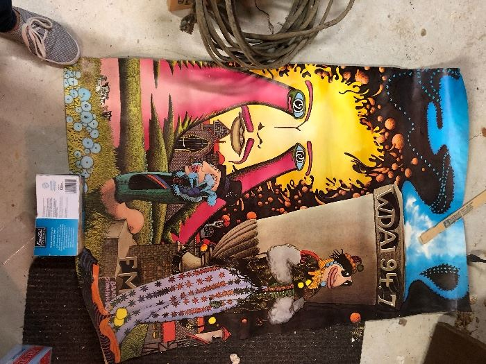 1971 Brad Johannsen art poster WDAI 97.7 fm